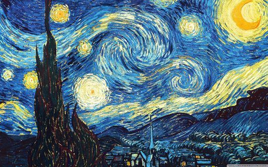 Vincent van Gogh's 'Starry Night' Painting Made from 7,067 Falling Dominoes