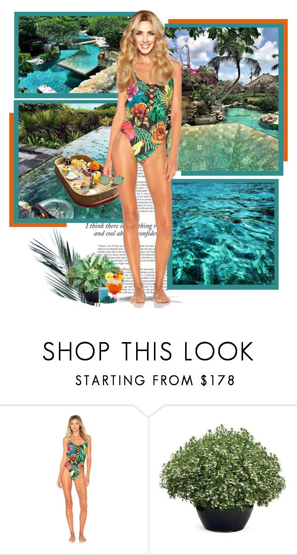 """""""AYANA Resort and Spa Nusa Dua ● Bali"""" by annynavarro ❤ liked on Polyvore featuring Haze, Agua Bendita, red flower and Christian Dior"""