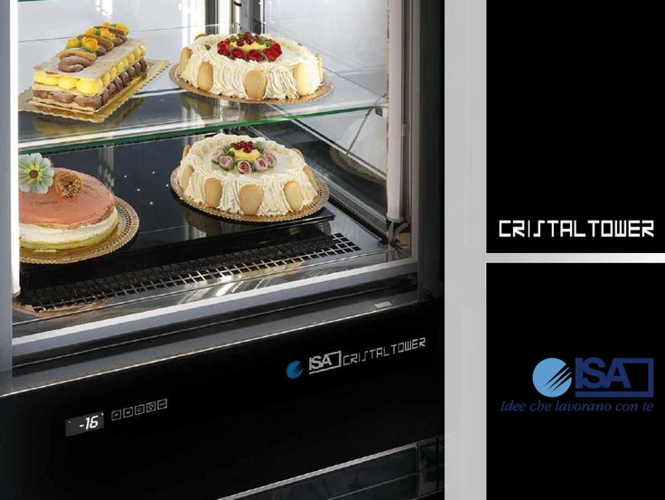 Armadio espositivo Cristal Tower by ISA.  #gelaterie, #dolci, #pasticcerie, #bar www.isaitaly.com