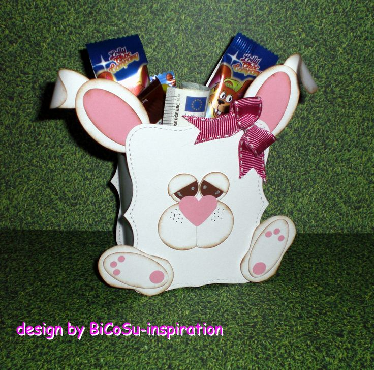 Geschenkverpackung Hase - Punch Art - Bunny - Happy Easter - Frohe Ostern oder einfach nur so