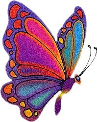 Butterfly fairy. Colourful glitter graphic!