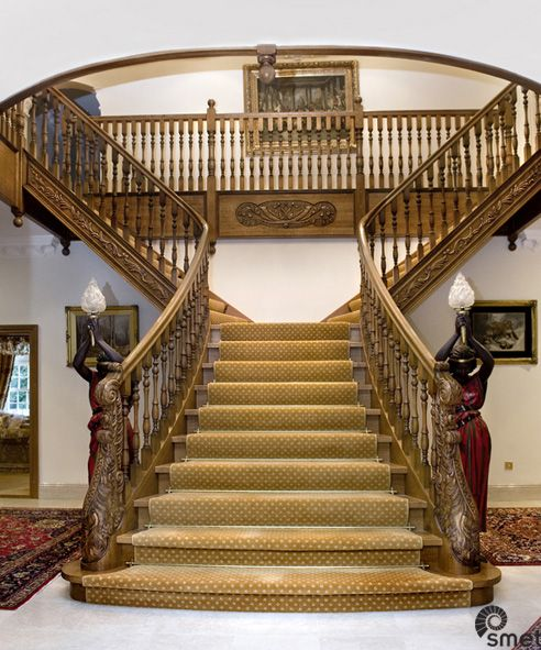 Best 9 Best Wood Hand Carved Smet Staircases Images 400 x 300