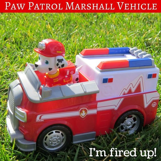 Paw Patrol Marshall Vehicle Toy for Paw Patroller