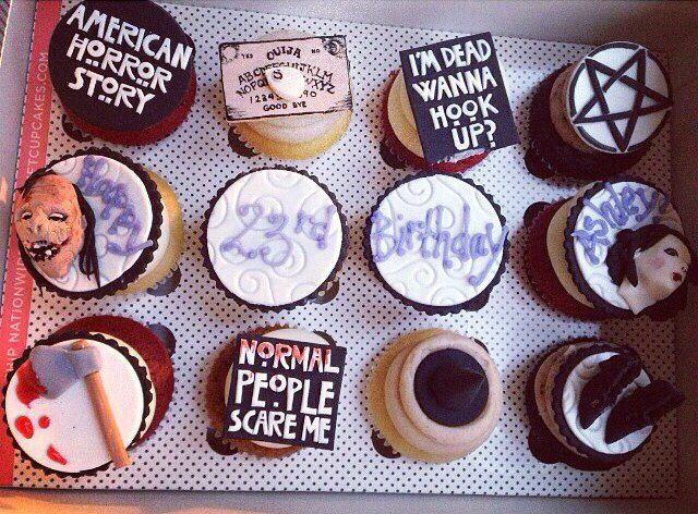 American Horror Story cupcakes