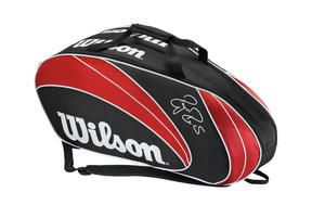 #Squash - Wilson Federer Squash Bag - Wet section, holds up to 9 rackets - R1 099.00