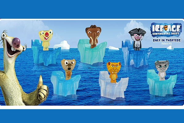 mcdonalds does quotdesigner toysquot for ice age happy meals
