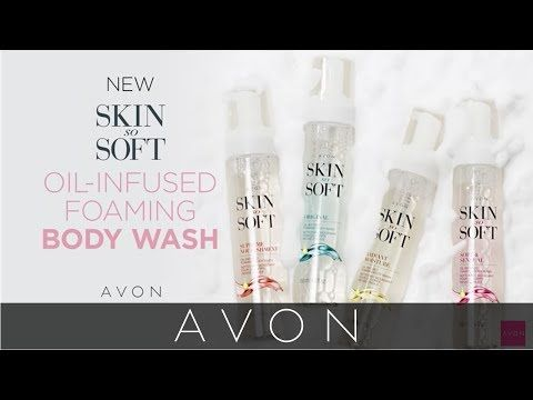 Skin So Soft Original Oil-Infused Foaming Body Wash
