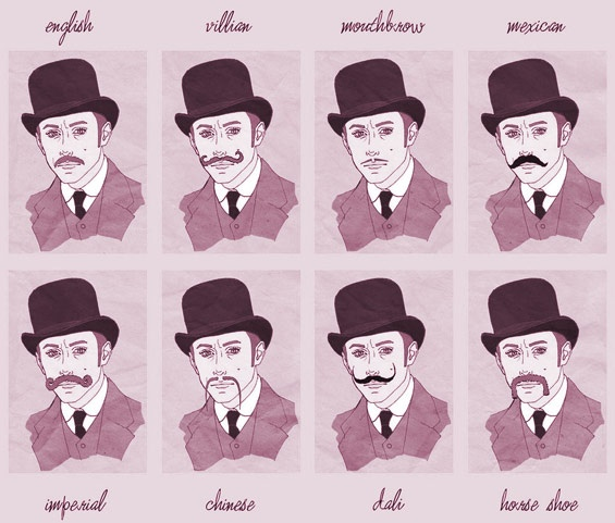 types of mustaches