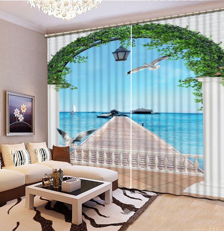 $ 30 Мода 3D Home Decor Красивые двери декорации Постельные Принадлежности комната 3D Шторы Украшение Дома купить на AliExpress
