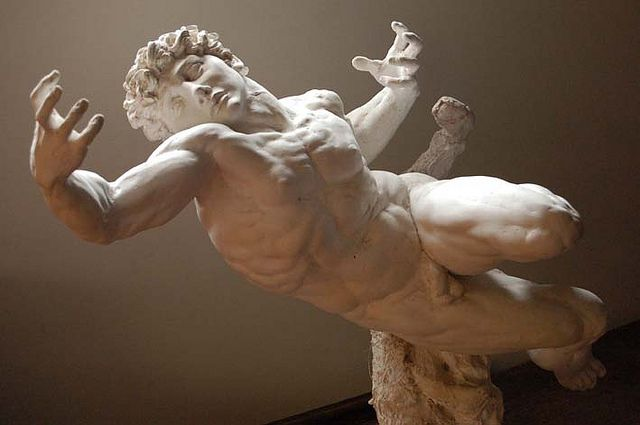 """""""Michael Angelo Now"""", reimagined art inspired by Michael Angelo. Contemporary (Portuguese) plaster model 1996"""