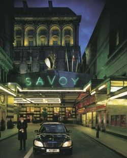 The Savoy Hotel London: The Savoy exterior at night