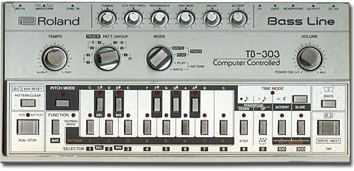 Roland 303: built to replace the bass player, but made disco and house music instead.