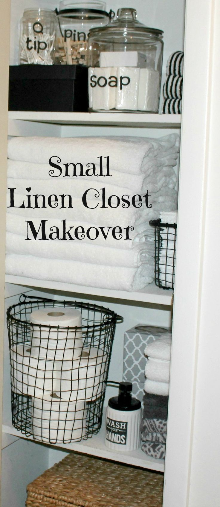 Small Linen Closet Ideas For Easy Organization.