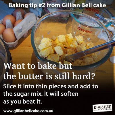 Baking tip: cut your hard butter first