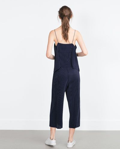 Image 2 of FINE PLEAT T-SHIRT from Zara