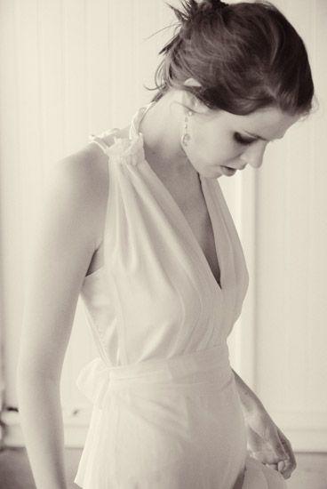 Fashion photography, Brides halter neck dress, B&W Fashion on Location, Sydneys Eastern Suburbs. Photographed by Kent Johnson.