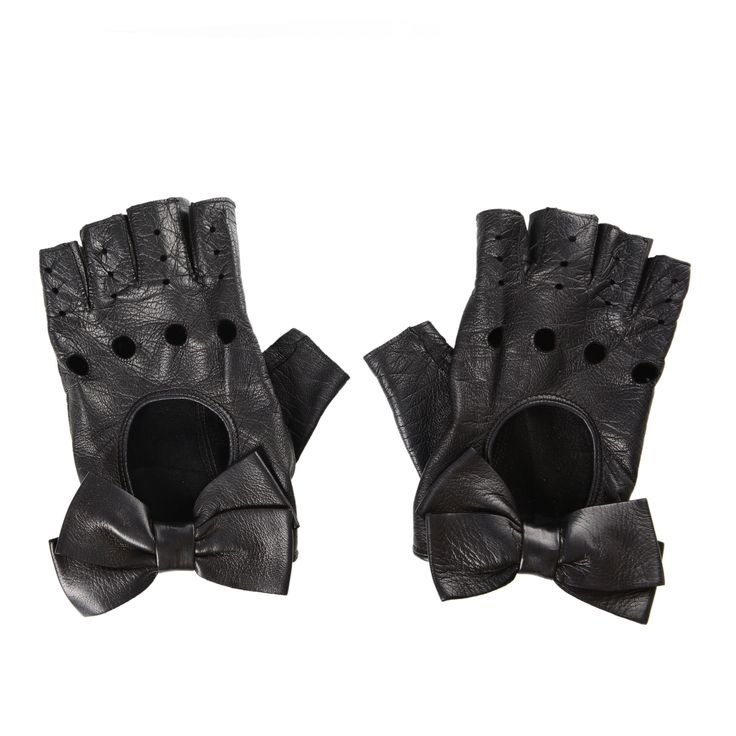 Valentino Fingerless Leather Gloves, 145 Euro.