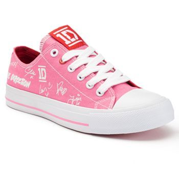 GUYS AT KOHL'S (online only not in the store though) THEY HAVE ONE DIRECTION SHOES AND THEY COME IN PINK  OMG