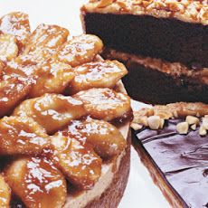 Peanut Butter Cheesecake with Caramelized Banana Topping III Recipe