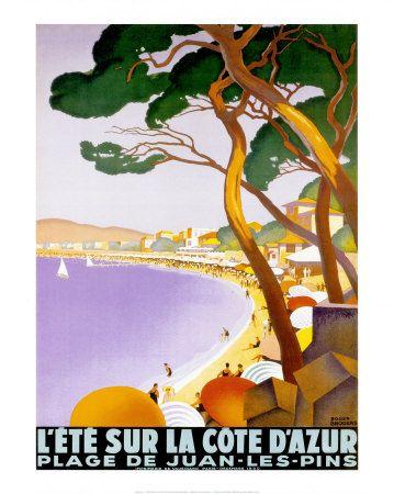 L'été sur la Côte d'Azur Affiches par Roger Broders sur AllPosters.fr