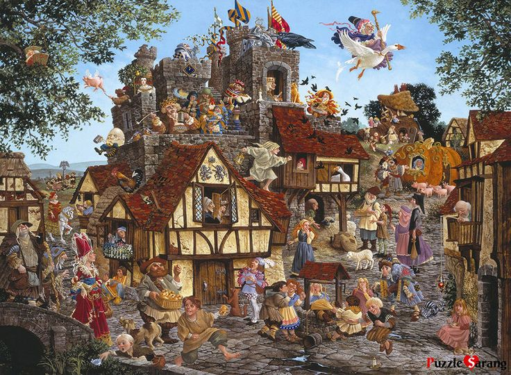 """SUNSOUT 1500 piece Jigsaw Puzzles """"Rhymes and Reasons"""" / SO67583 #SUNSOUT"""