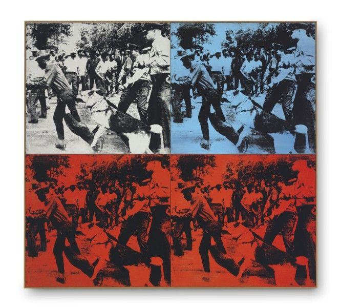 """Race Riot"", 1964. Andy Warhol."