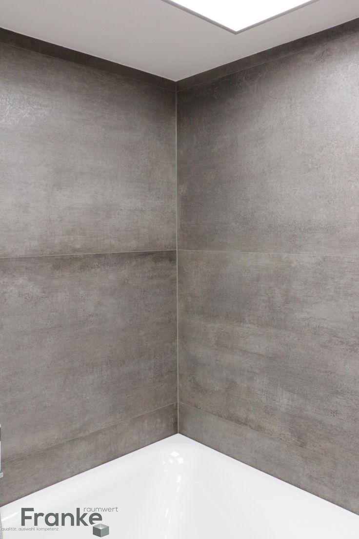 Minimalistisches Fugenbild durch XXL-Format 80x180 cm neue Serie Prima Materia - neuste Betonoptik http://www.franke-raumwert.de/Fliesen/Kronos-Ceramiche-1617/Prima-Materia/ #Wandfliesen #Bodenfliesen #Groformat #Prima Materia