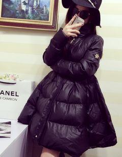 Европе зима новый стиль женщин большая снежинка логотип мягкий Подол Хлопок одежда хлопок длинные пальто из категории Женские зимние куртки и пуховики: цена, фото, отзывы, доставка – купить в интернет-магазине Купинатао