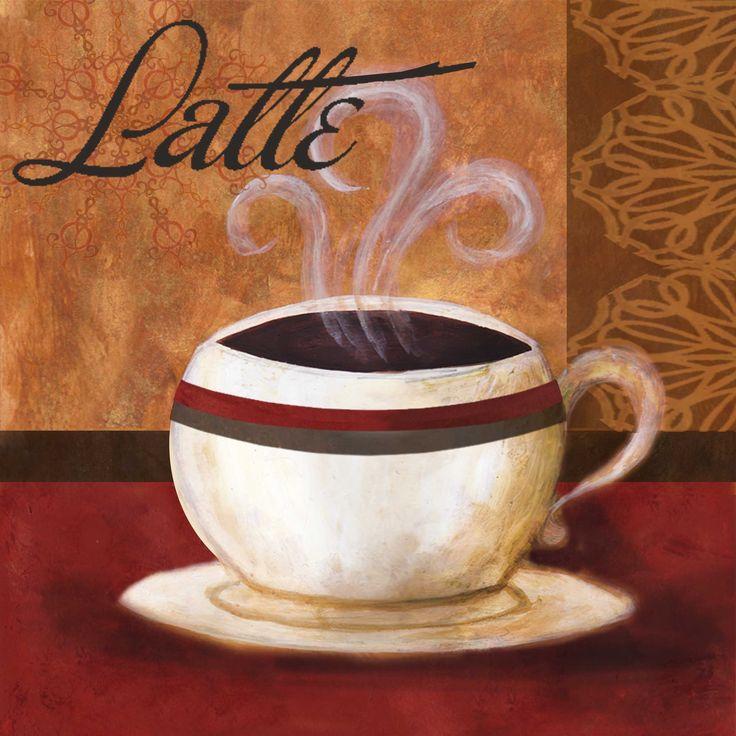 Днем, рисунок с кофейной тематикой