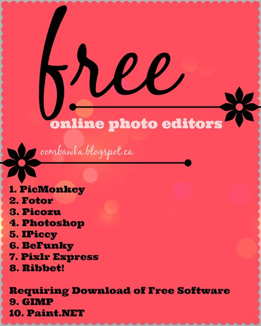 Oombawka Design *Crochet*: Online Photo Editing For Free
