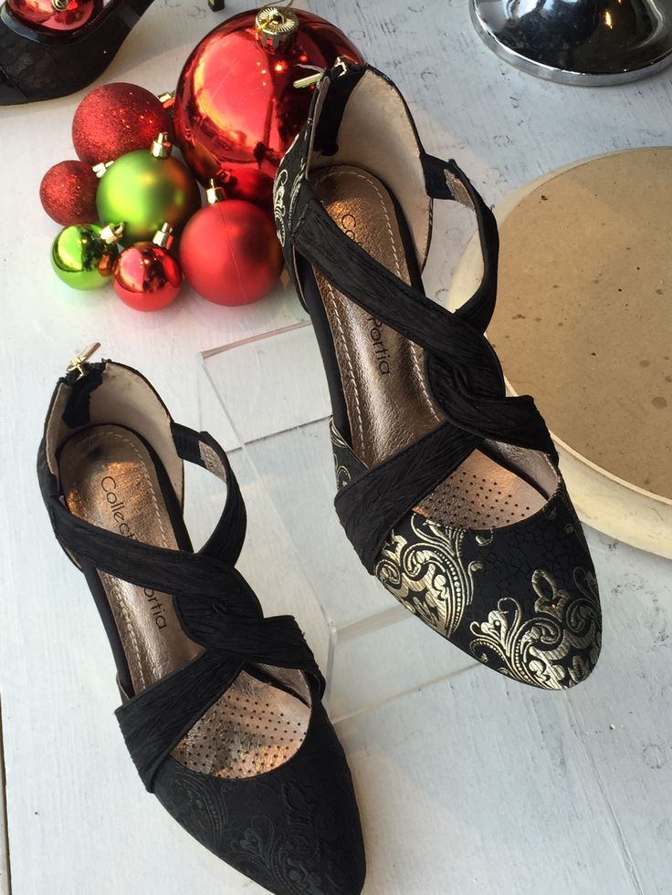 Loving these black and silver pumps by Portia for the holidays available at Brittany N Bros in downtown Lindsay, Ontario. Stop by for the most beautiful holiday outfits! Look for brittanynbros on Facebook & Twitter and sign up for our newsletter at http://www.brittanyandbros.com