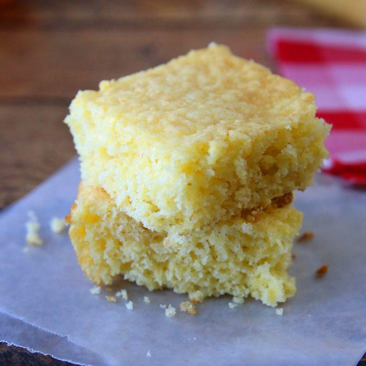 Quick + easy Jiffy cornbread recipe for moist, sweet cornbread