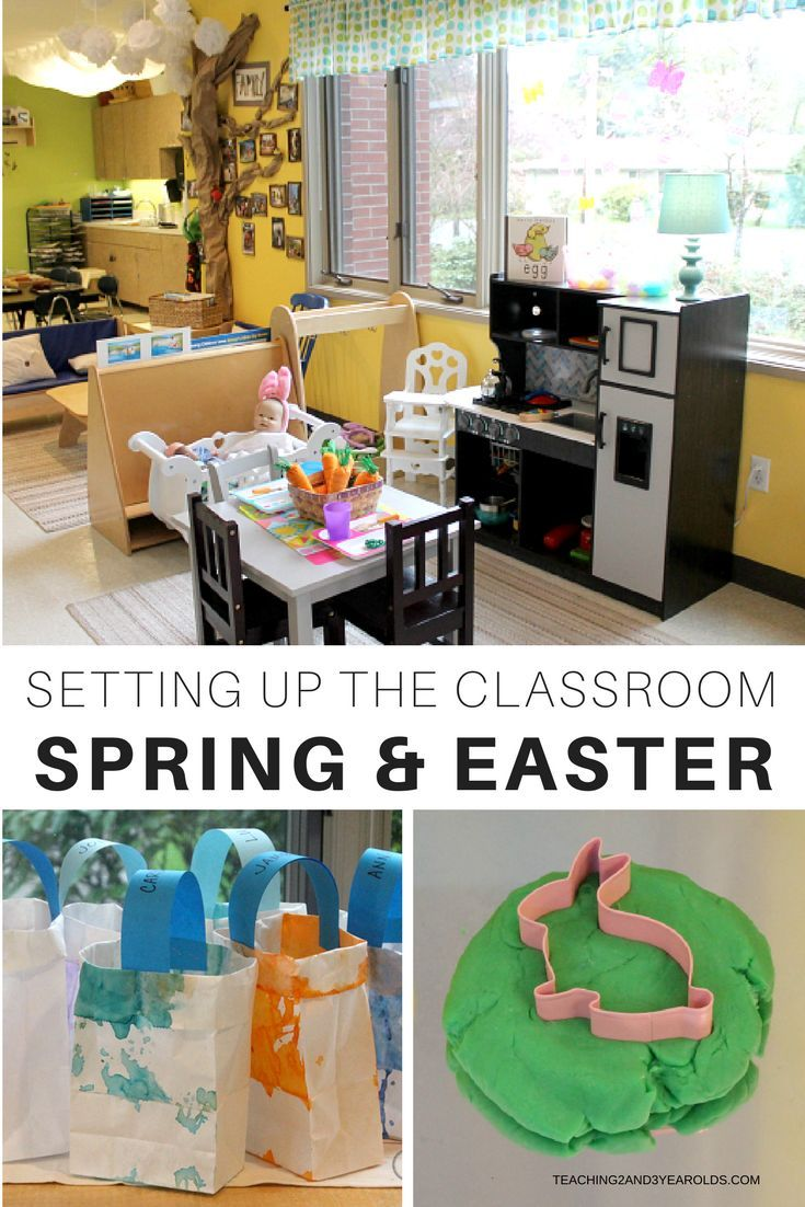 setting up the classroom for our easter and spring theme spring rh pinterest com