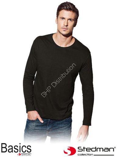 Czarna koszulka z długim rękawem ST2500_BLO