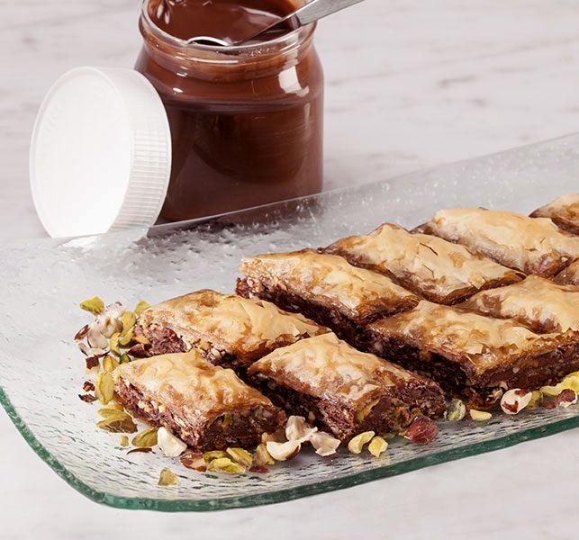 Nutella Baklava with Phyllo (fillo) dough. entertaining; connect group.