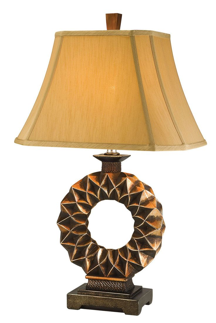 Western table lamps - L94222t Table Lamptable Lamp L94222twith Its Copper Bronze Finish And Western Edge This Unique