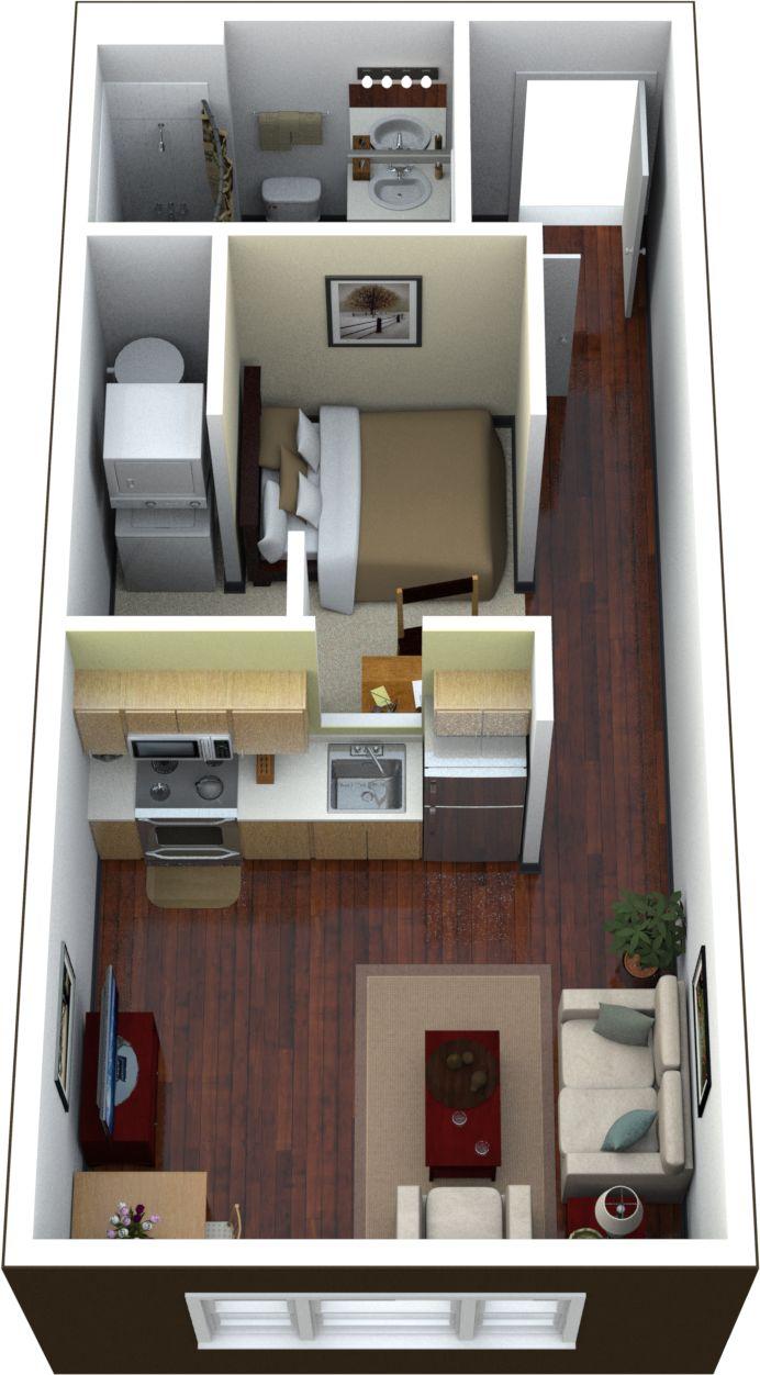 Best Apartmen Floor Plans Images On Pinterest - Rental apartment one bedroom apartment open floor plans
