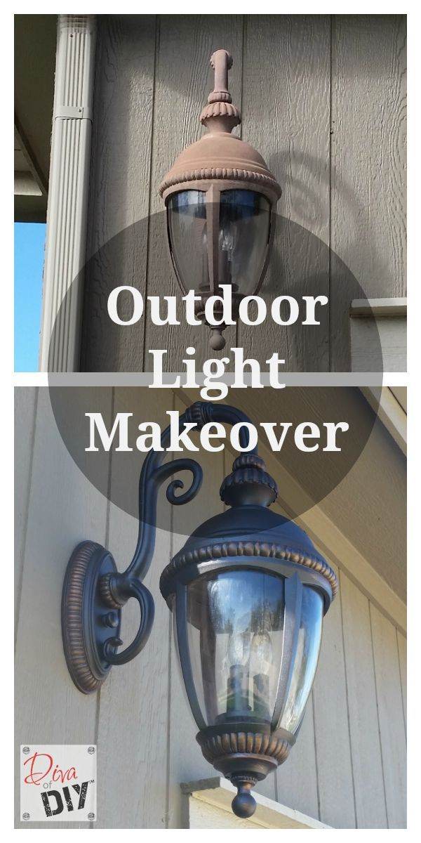 Don't throw away those outdoor light fixtures when they fade...give them a makeover with Rustoleum paint and Modern Masters Masters Metallic Paints.