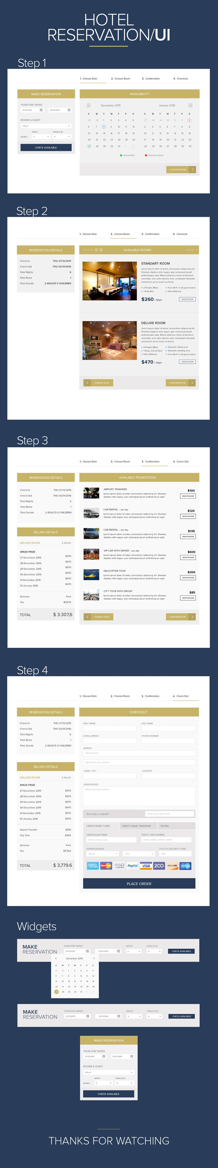 Hotel Reservation UI Design on Behance