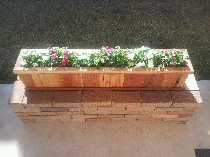 Flower Planter I Made From Old Brick Walkway And A Home