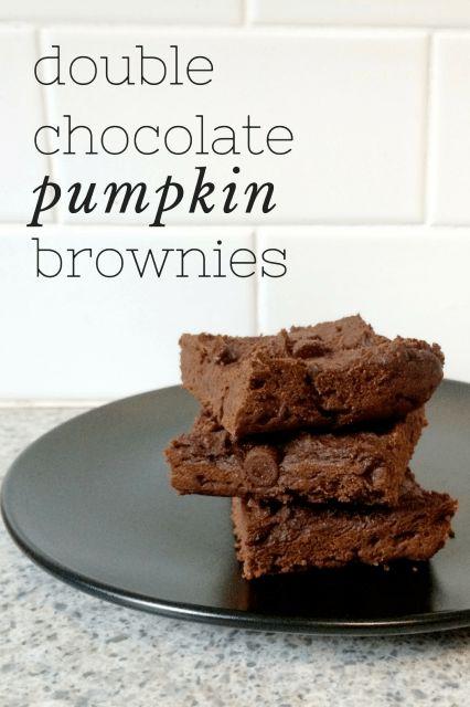 Double Chocolate Pumpkin Brownies!