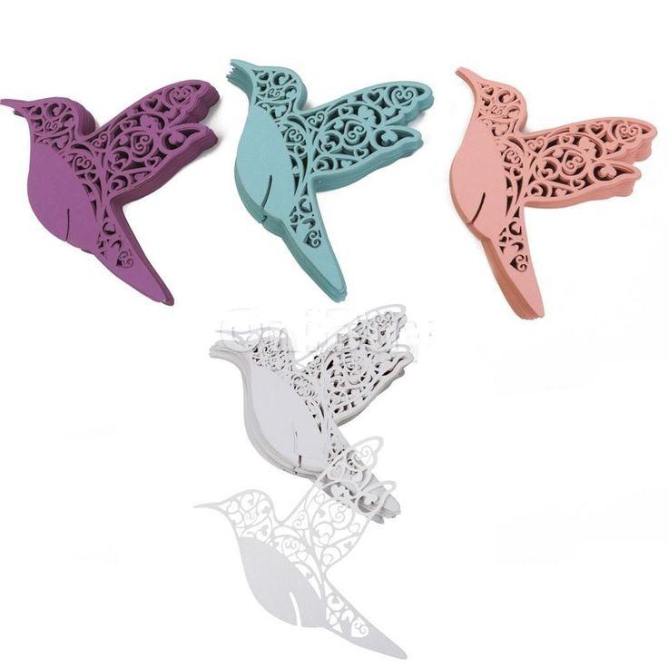 porte  Nom Cartes  marque place mariage  oiseau paradis  verre  décoration  table