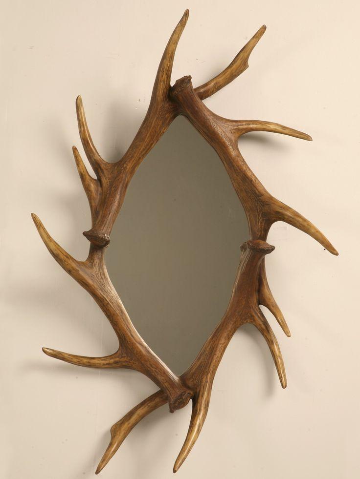 Faux antler mirror 349 deer pinterest antlers for Fake deer antlers for crafts