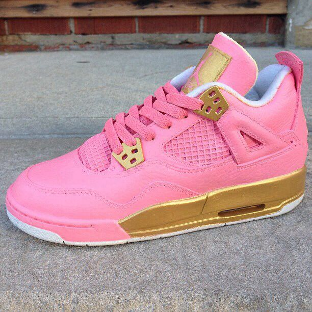 outlet store 92463 ae183 air jordan retro 4 pink gold