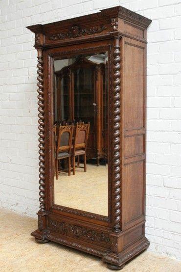 «BersoАнтик» - Шкаф для кабинета в охотничьем стиле
