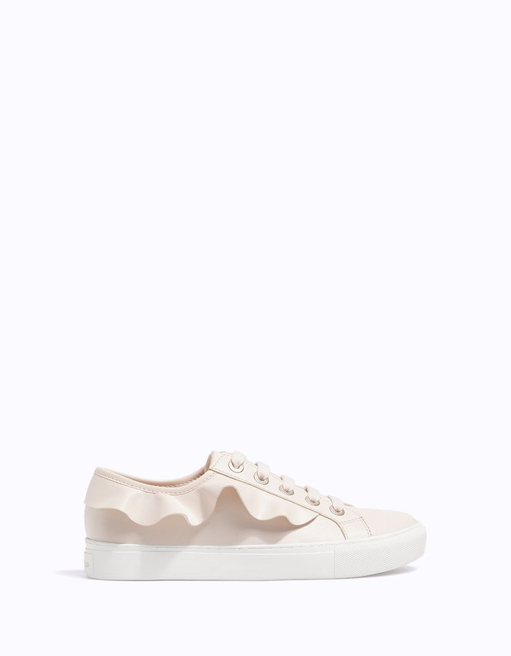 At Stradivarius you'll find 1 Plimsolls with frill detail for just 19.99 United Kingdom . Visit now to discover this and more SHOES.