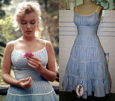 Marilyn Monroe blue country dress
