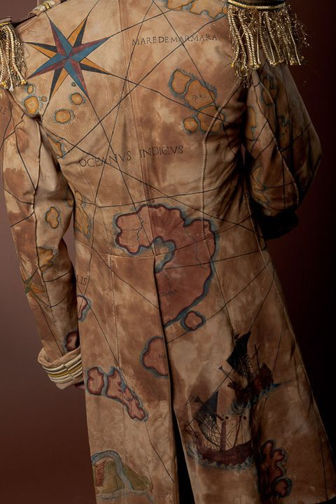 Definitely a costume piece but I love maps and working them into style is brilliant.