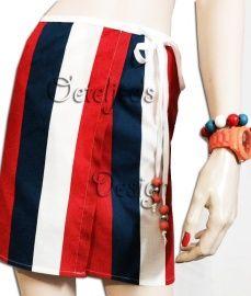 Oranje / WK Voetbal wikkelrok rood wit blauw