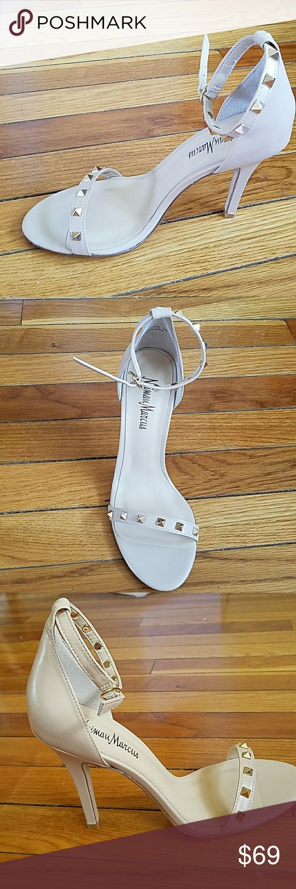 Neiman Marcus Sandals NWOT. High heels Cute sexy sandals worn once  has 2 straps and studs Neiman Marcus Shoes Sandals